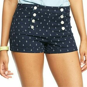 Almost Famous Anchor High Waist Sailor Shorts 13